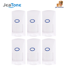 JeaTone 433Mhz PIR sensor infrared anti pet immune wireless motion alarm sensor for GSM WIFI home security system alarm kit