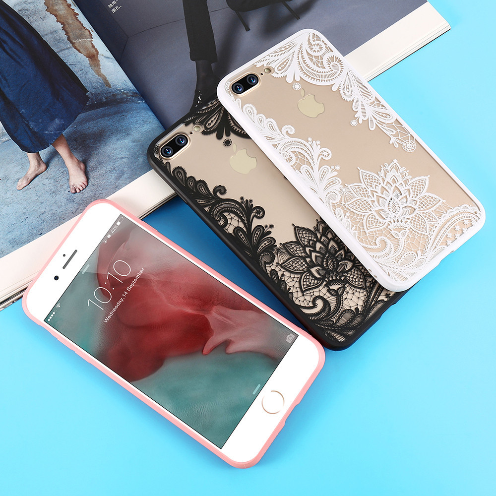 Phone Bags & Cases Kisscase Phone Case For Iphone X Xs Max Xr 6 6s Fashion Girly 3d Lace Flower Case For Iphone 7 8 Plus 5 5s 6 6s Cover Capinhas Fitted Cases