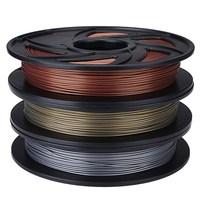 New Arrival Aluminum/Bronze/Copper Color 1.75mm 0.5kg PLA Filament For RepRap 3D Printer Materials Excellent Quality