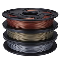 New Arrival Aluminum/Bronze/Copper Color 1.75mm 0.5kg PLA Filament For RepRap 3D Printer Materials Excellent Quality