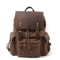Fashion Waterproof Canvas Large Capacity Backpacks Men Backpack Laptop Travel Backpack School Daily Bags Men Women