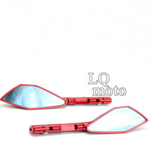 Aluminum CNC dirt bike red  Rear Side Mirrors FOR Benelli 300 BJ300 600 BN TNT600 TNT1130 free shipping