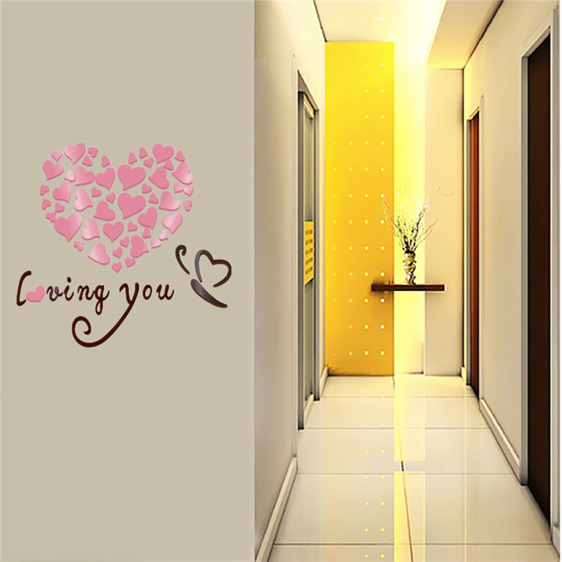 Exelent Love Mirror Wall Art Festooning - Wall Art Collections ...