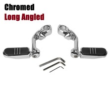 32mm 1.25″ Chrome Long Angled Highway Engine Guard Foot Peg For Harley  motorcycle