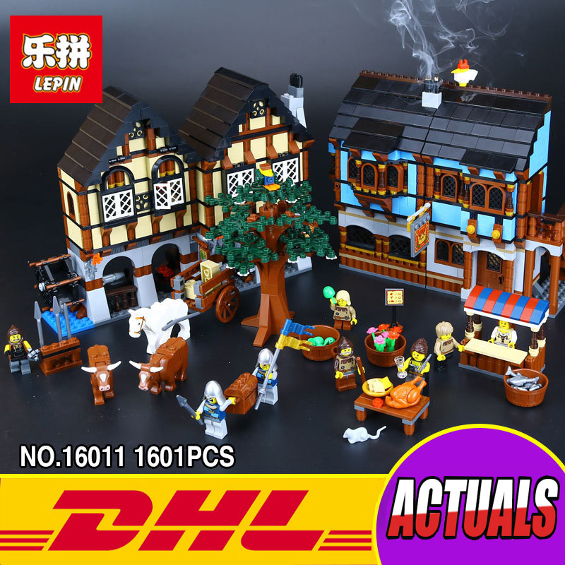 Lepin 16011 1601Pcs Castle Series The Medieval Manor Castle Set 10193 Educational Building Blocks Bricks Model Toys Gift