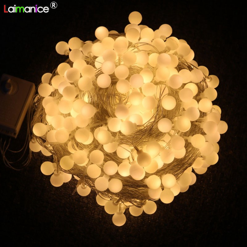 100m 600led Ball string lights waterproof led Fairy lights for Outdoor Christmas Wedding Party Holiday Decorative Garland lamps alysi блузка