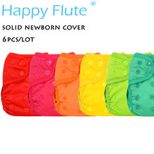 Счастливый Флейта новорожденных оснастки ткань пеленки чехол для NB ребенка, двойные вставки, водонепроницаемый и дышащий