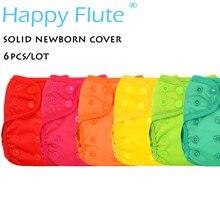 Happy flute capa para fralda de pano, capa de fralda para recém nascido, bebê nb, gussets duplo, à prova de água e respirável