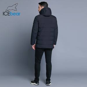 Image 4 - ICEbear 2019 new winter mens jacket with high quality fabric detachable hat for males warm coat simple mens coat MWD18945D