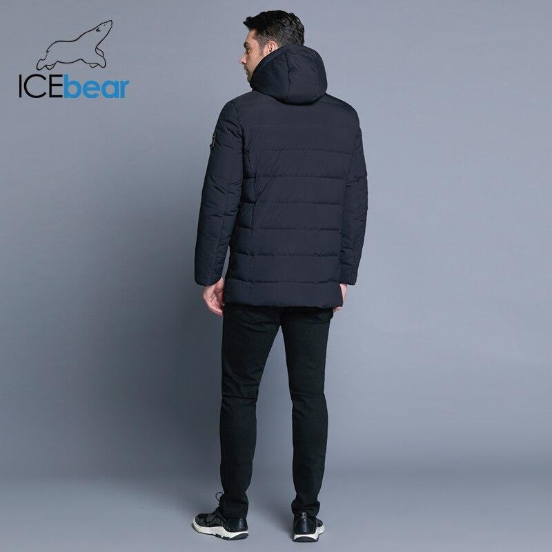 ICEbear 2019 nouvelle veste d'hiver pour hommes avec chapeau détachable en tissu de haute qualité pour manteau chaud pour hommes manteau simple pour hommes MWD18945D - 4