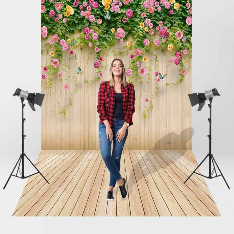 Houten Planken Bloem Fotografie Achtergrond Doek Textuur Achtergrond Studio Decor Video Foto Studio Fotografie Accessoires