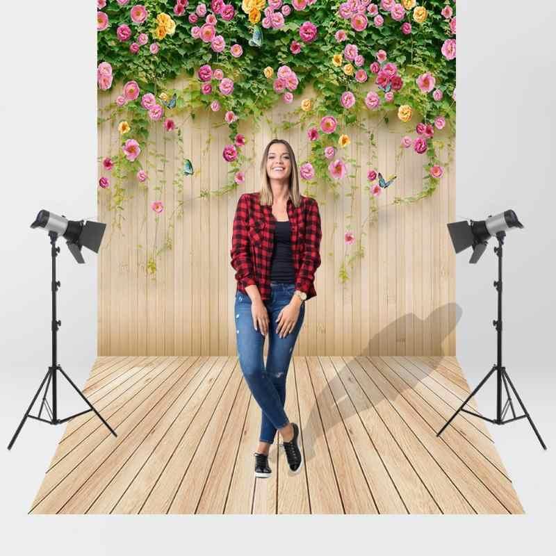 Planches de bois fleur photographie fond tissu toile de fond Studio décor photo studio