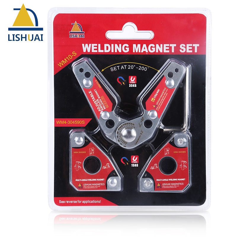 LISHUAI 3pcs pack Mini Multi angle Welding Magnet Small Size Adjustable Welding Clamp 20 200 degree