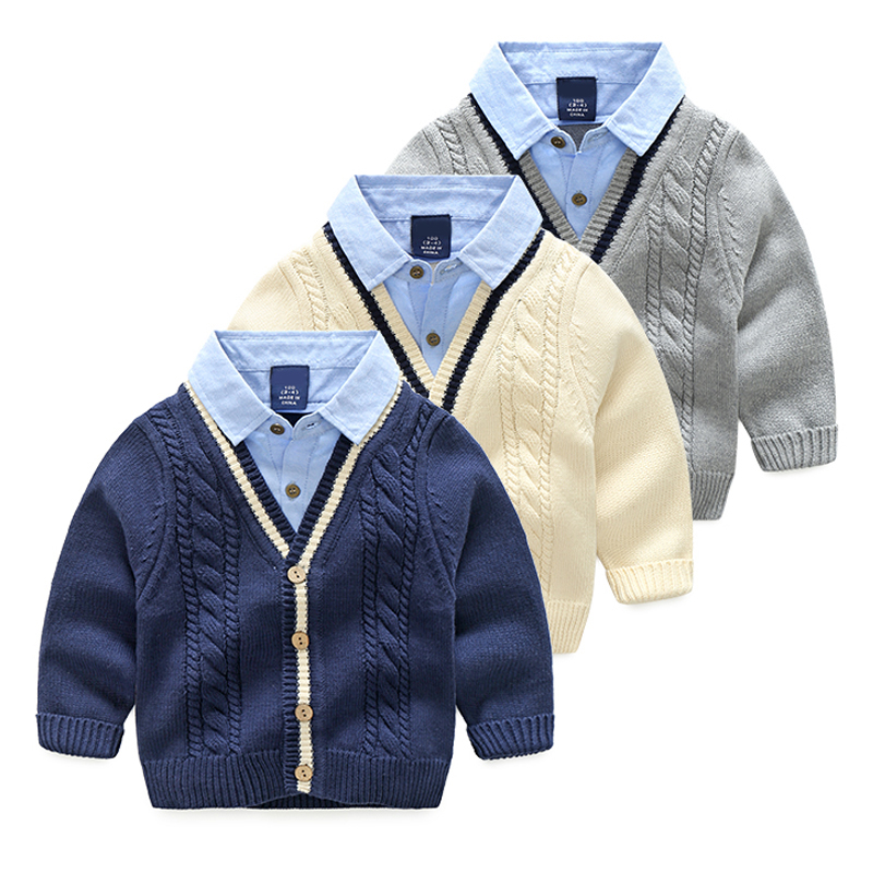 57b11d3996e7 Detail Feedback Questions about 2018 Baby Boys Knit Cardigan Coat ...