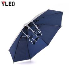 YLEO  Fishing Cap Foldable Head Umbrella Hat Anti-Rain Anti-UV Outdoor Caps Portable Travel
