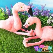 25CM Simulation Flamingo Plush Toys Cute Bird Plush Dolls Wildlife Stuffed Animal Toy For Kids Children Free Shipping