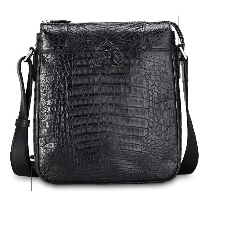 Gete new crocodile male bag shoulder bag inclined  korea edition tide leisure business men bags the new winter handbags in europe and the tide crocodile grain female bag brand shell package one shoulder inclined shoulder bag