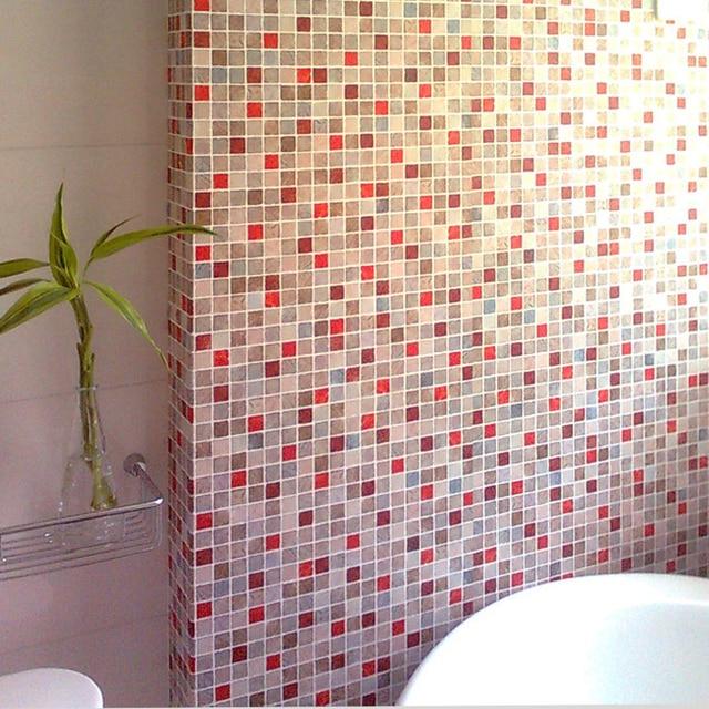 0.5X2 M PVC Mozaïek Muur papier Moderne zelfklevende Behang Badkamer ...