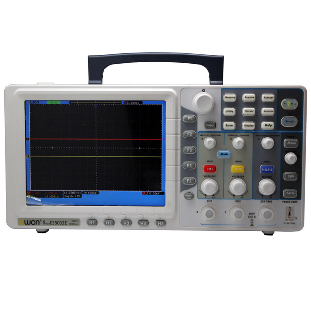 "Best Price Ultra-thin 30Mhz OWON Digital Storage Oscilloscope SDS5032E 250Mhz/s 8"" TFT VGA"