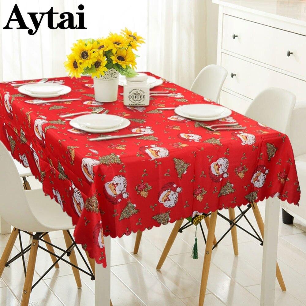 Aytai Cartoon Drucken Red Tisch Tuch Weihnachten Kunststoff ...