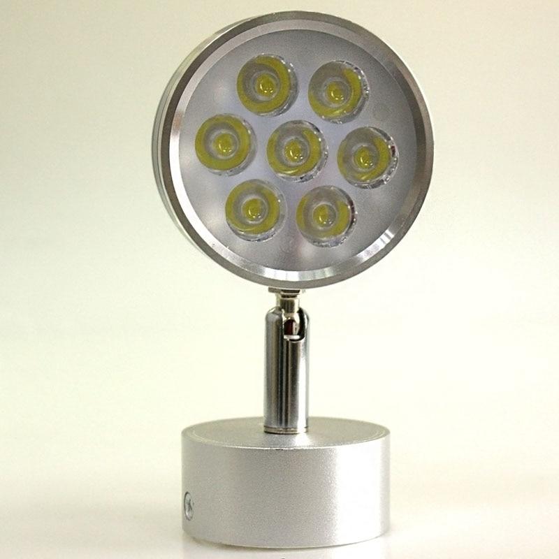 Led silver adjustable bedroom bedside lamp reading wall for Bedside wall lamps for reading