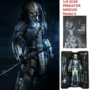 Image 3 - Poupée AVP cicatrice prédateur MMS190 figurines modèle C 1/6 échelle mobile M18 pré peinte Alien vs prédateur jouets 32cm