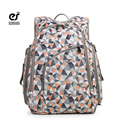 ECOSUSI Fashion Women Backpack For Mummy Diaper Nappy Bag With Changing Pad Female Nylon Backpacks With Baby Stroller Hooks