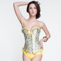 Women clothing metallic finish sexy Palace delay corset Steampunk Corset Sexy Women Corselet Corset and Bustier Strapless Corset