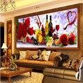 5D Алмаз вино плодовое DIY Вышивка Крестом частичной вставки Алмазов Вышивка Цветок Серия Вертикальных Печати Кубик рубика Сверла изображение