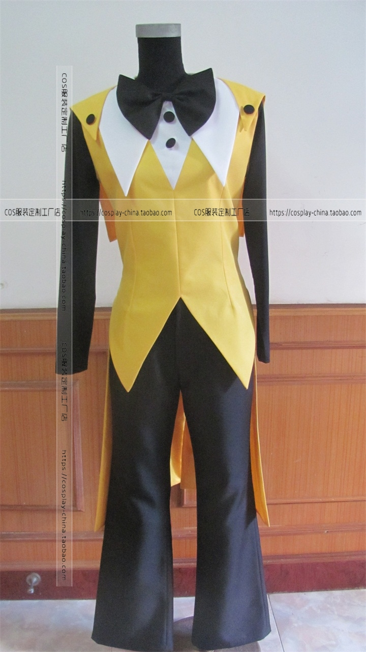 Gravity Falls Bill Cipher Cosplay Costume custom any size  Mystery Attack Outfit Halloween Costumes with hat and gloves