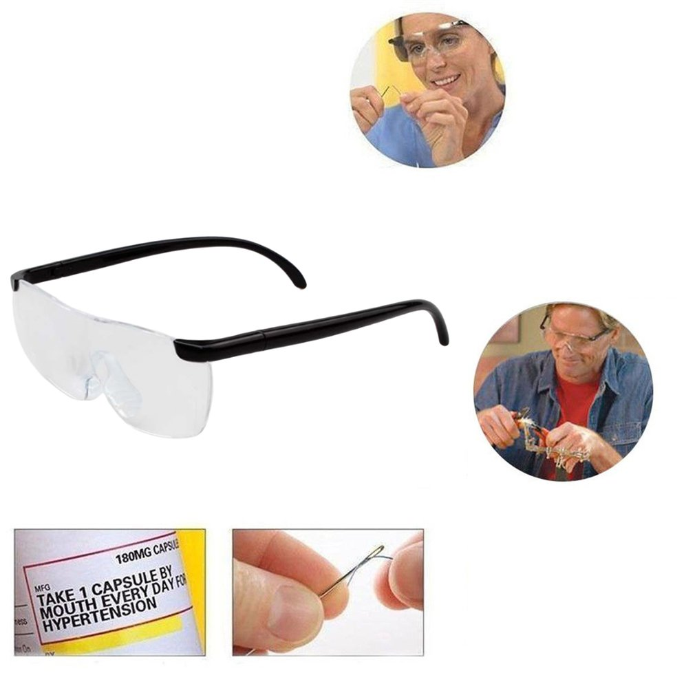 1.6X Magnifying Reading Glasses Flameless Lightweight Eyewear Magnifier 250 Degree Vision Lens for The Elderly Toiletry Kits|Magnifiers| |  - title=