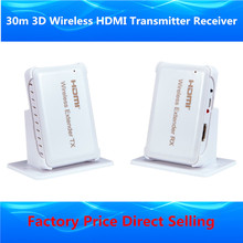 Full HD 1080P Wi-fi HDMI Extender 30m HDMI1.four 3D WIFI HDMI Sender Transmitter Receiver Over Wi-fi Video Audio Transmission