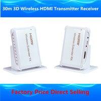Full HD 1080P Wireless HDMI Extender 30m HDMI1 4 3D WIFI HDMI Sender Transmitter Receiver Over