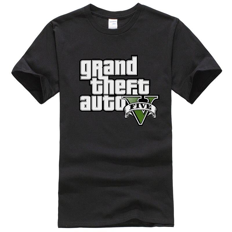 Grand Theft Auto GTA   T     Shirt   Men Street Long with GTA 5   T  -  shirt   Men and Women TShirt Summer Tops Short Sleeve Tees GTA5 T143