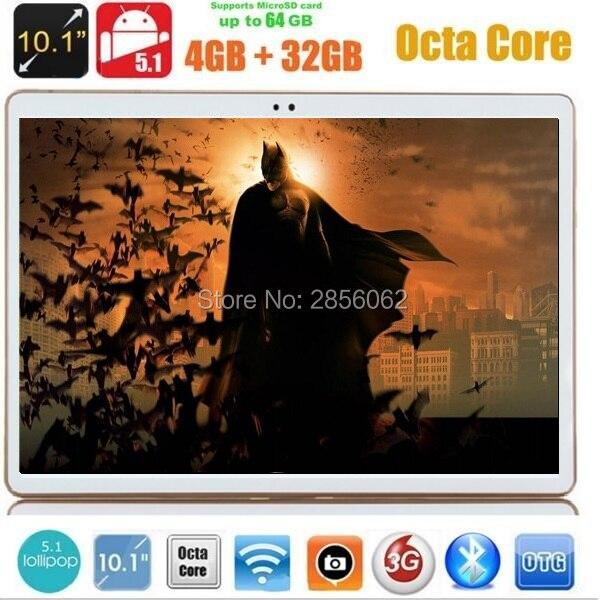 DHL Бесплатная Доставка 10 дюймов tablet Octa Ядро 4 Г RAM 32 ГБ ROM Android 5.1 1280*800 IPS 5.0MP Bluetooth GPS 3 Г планшетный пк