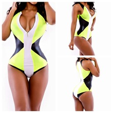 2016 Sexy Swimsuit Siamese Plus Size Swimwear One Piece Swimsuit Badpak Women Maillot De Bain