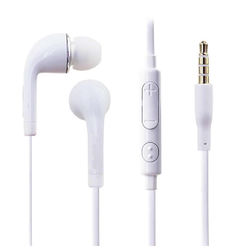 3.5mm Jack słuchawki douszne zestawy słuchawkowe z mikrofonem Stereo głośnomówiący słuchawki douszne sterowanie przewodowe słuchawki do Xiaomi Samsung S4 S6 S7 S8 S9