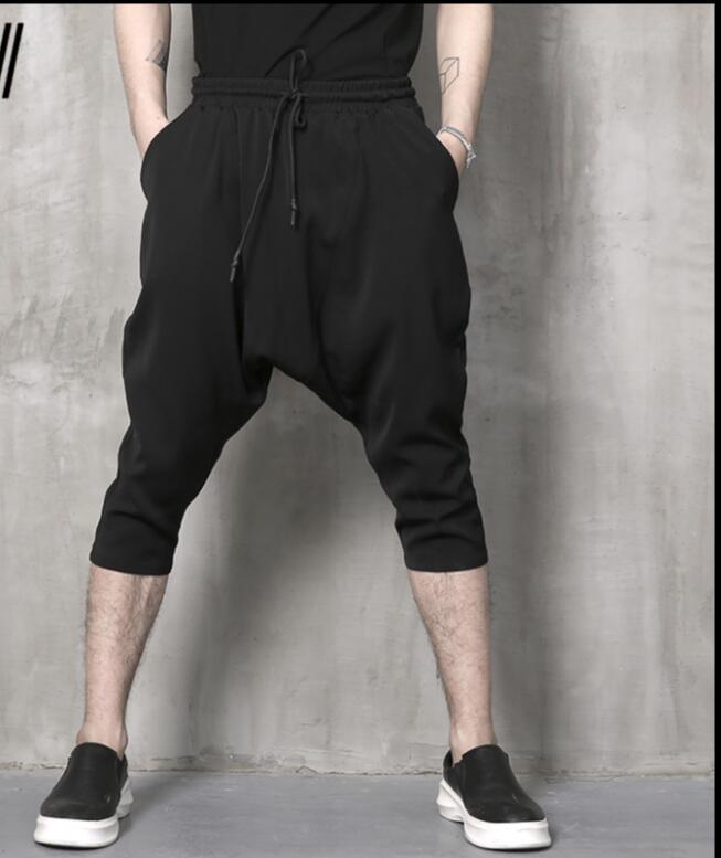 De Décontracté Sept Hommes Nouvelle 2018 Sarouel Plus Fashon Lâche Simple M xxl Taille Coréenne Été Pantalon Cheveux Styliste Noir La qYzzS