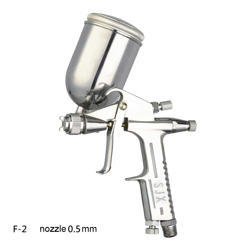 DIY pneumatic air tool mini spray paint gun F-2 nozzle 0.5mm for leather furniture toy  цены
