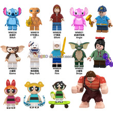 Legoings Figures Gremlins Stripe Gizmo Stitch Wreck-It Ralph Alien E.T. With Elliot Building Blocks Friend Children toys gifts(China)