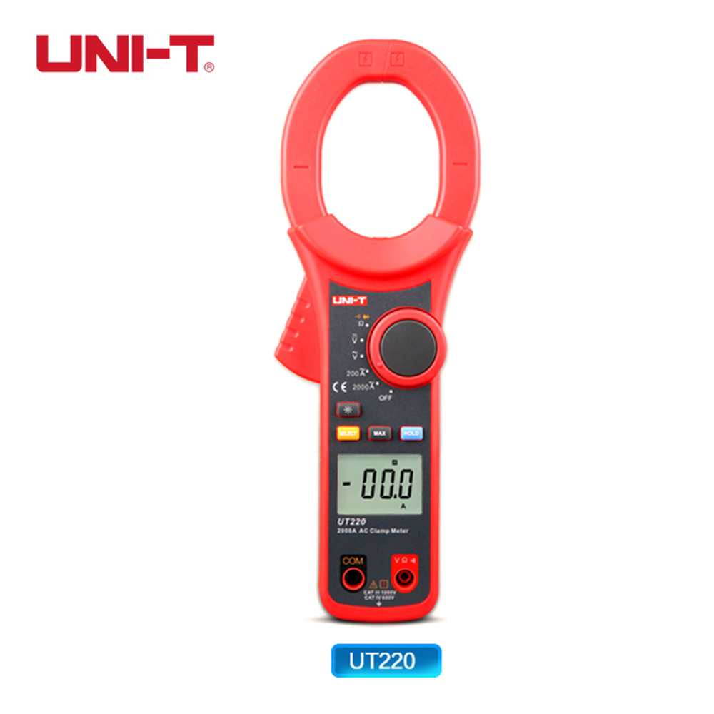ФОТО Professional UNI-T UT220 2000A Auto Range Data Hold LCD Backlight Digital Clamp Meters Multitester