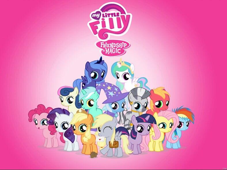 my little pony cartoon rosa kinder tv kunst gigantische print poster txhome d7569