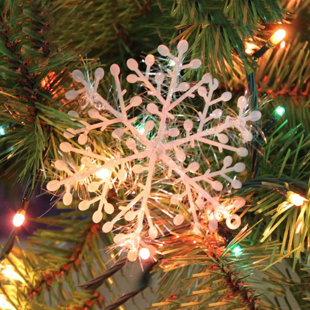2015 New 30Pcs Classic White Snowflake Ornaments Christmas Holiday Party Home Decor