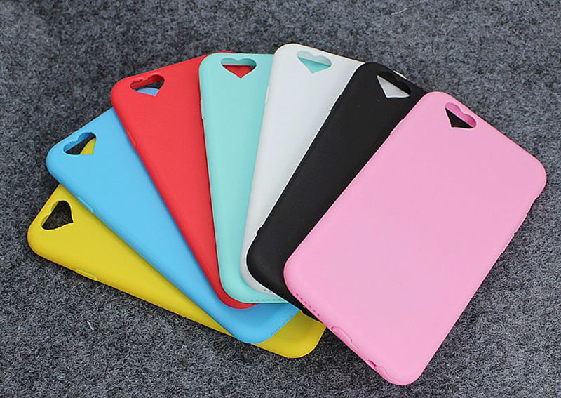 7d32e2efd89 Amor del corazón de silicona suave moda dulce color teléfono funda para  Apple iPhone 6 6 s 6 más 6 s más capa coque cubierta protectora volver
