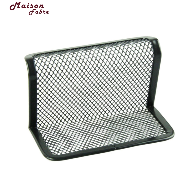 New Fashion Delicate Black Steel Mesh Business Card Holder Office ...