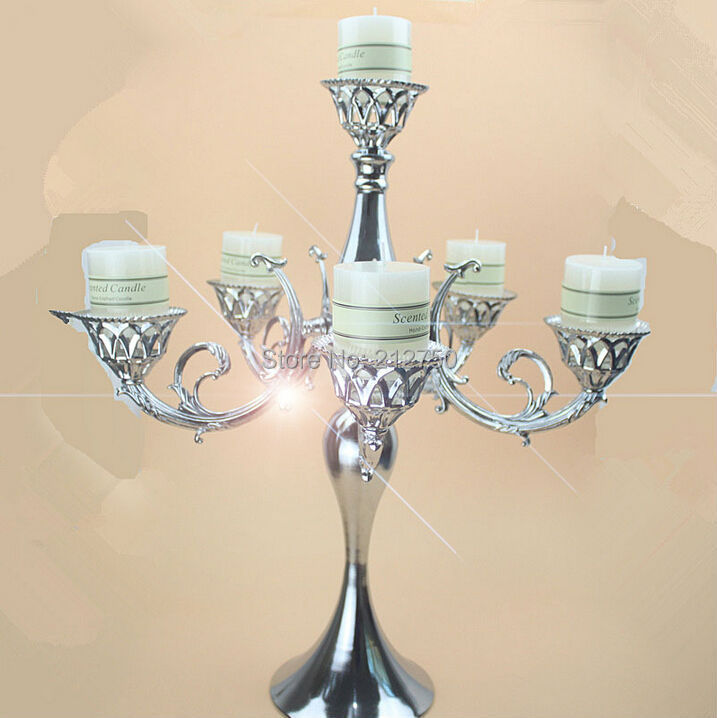 Height 66cm Width 55cm Candelabra Wedding Table Centerpieces 6 Heads