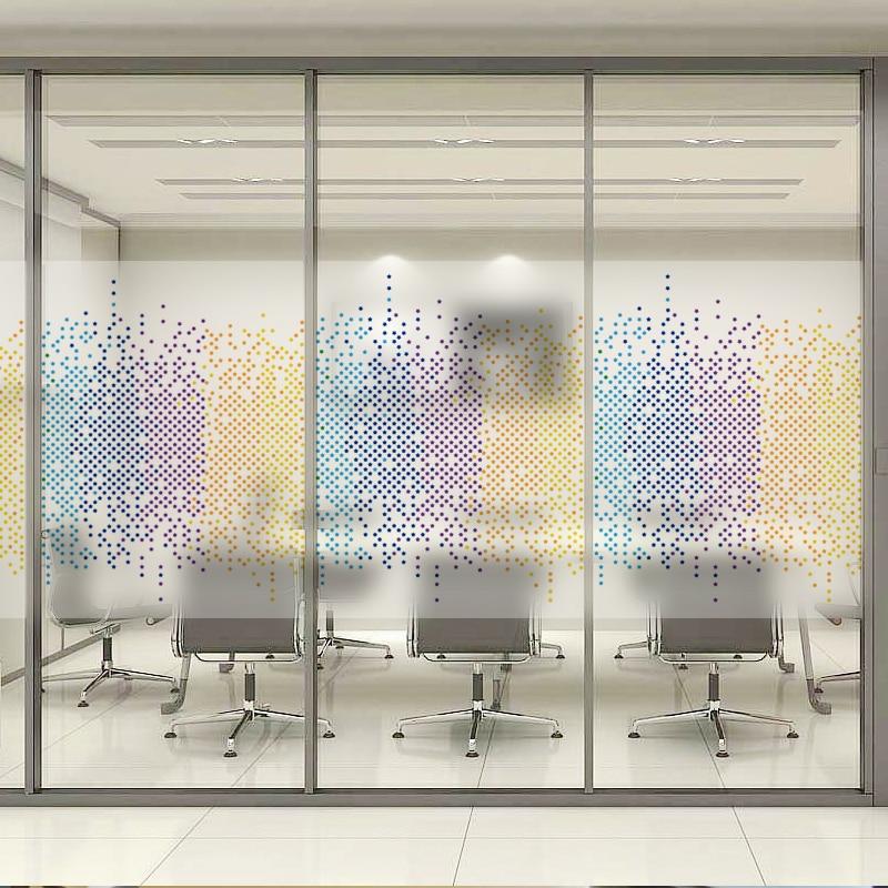 New Creativity Tricolor Mosaic Glass Film Window Sticker