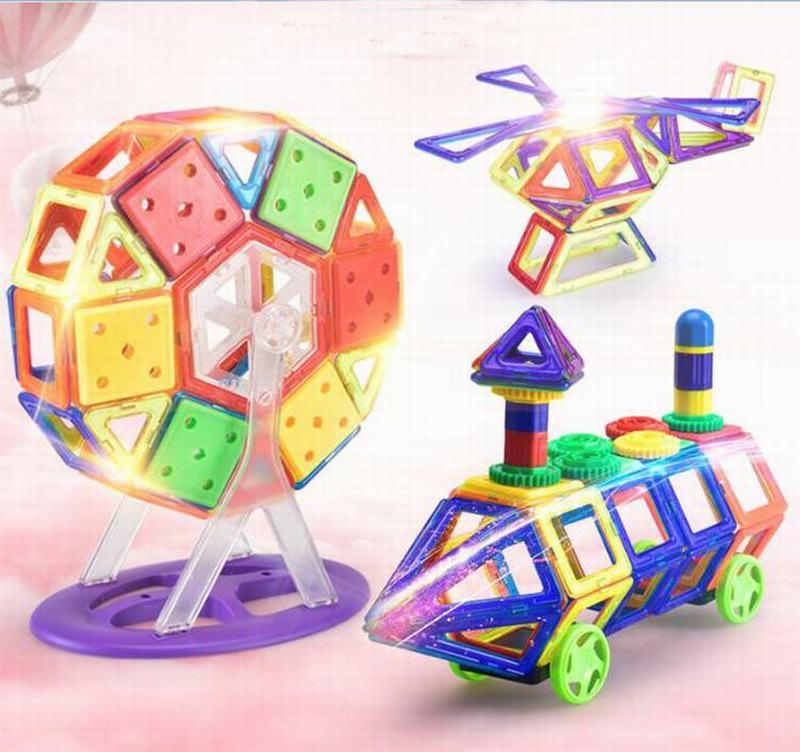 unidslote bloques magnticos modelo gear set d ladrillos diy bloques de construccin juguetes educativos de aprendizaje ju