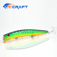 Купить с кэшбэком Fishing lure Jerkbait wobblers 13cm 20g Hard Bait Minnow POper Fishing lures Bass Fresh Salt water quality professional VMC HOOK