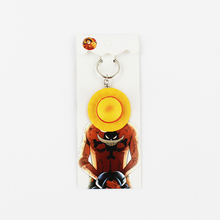 4.5cm One Piece Luffy Straw Hat Keychains